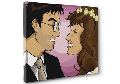Personalised Comic Style Canvas Prints