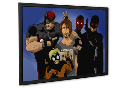 Personalised Comic Style Framed Posters