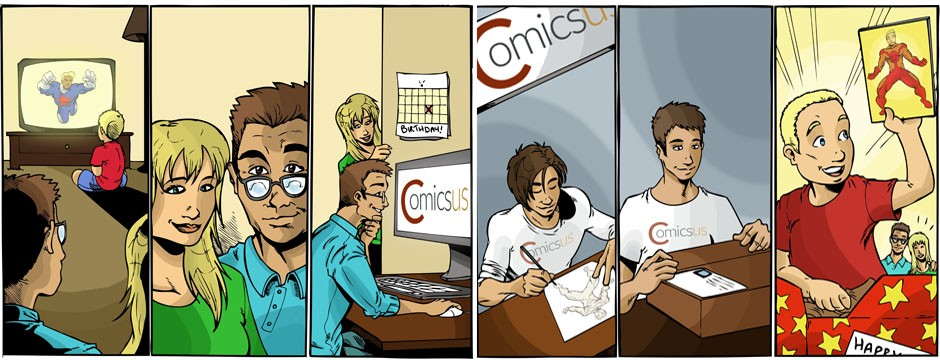 Custom Comic Strips - Comicsus Cartoonist