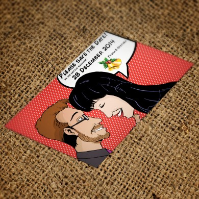Comicsus Personalised Save The Date Cards