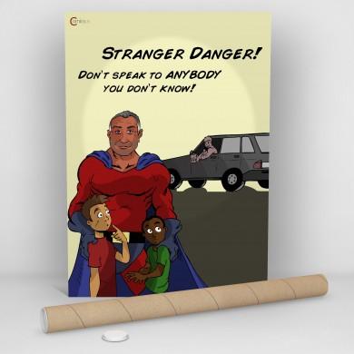 Stranger Danger, Comicsus Personalised Comic Poster