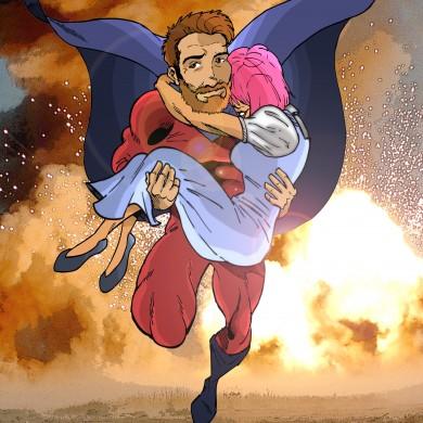 Pink Lady is Saved, Comicsus Personalised Illustration