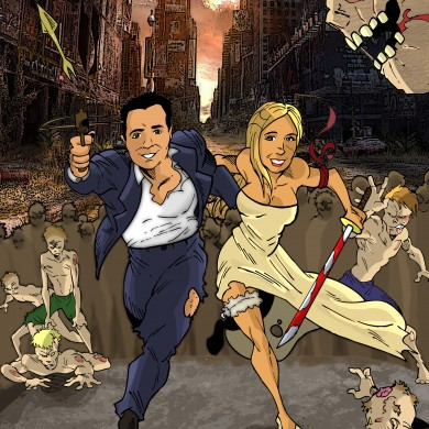 Wedding Couple in a Zombie Town, Comicsus