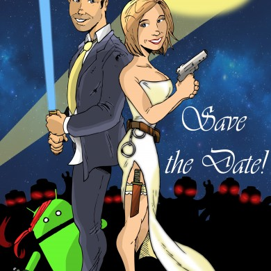 Custom Save the Date Design, Comicsus