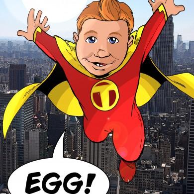 Baby Super Hero, Comicsus