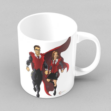 Comicsus Personalised Comic Mug Design