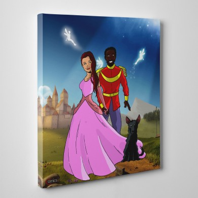 Disney Couple, Comicsus Personalised Canvas