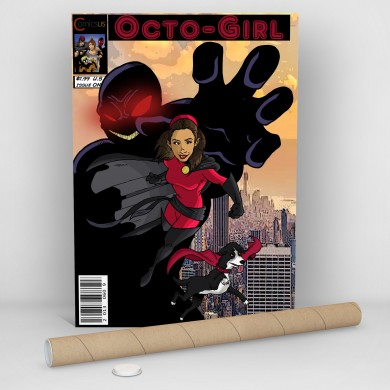 Octogirl - Super Girl And A Dog, Comicsus Personalised Comic Poster