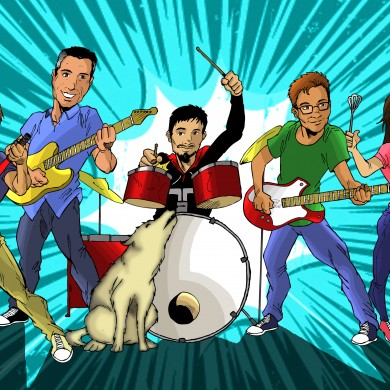 Family Band Illustration, Comicsus