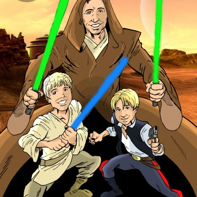 Jedi Father and Kids, Comicsus