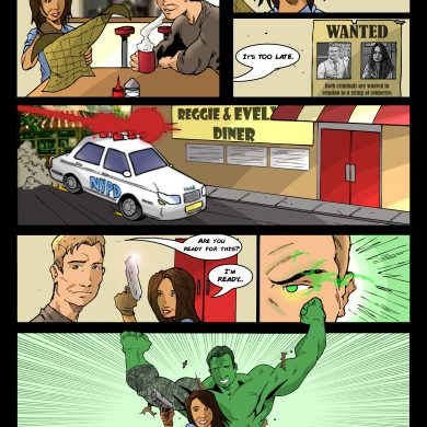 Hulk in Cafe, Comicsus