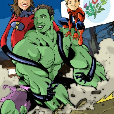 The Super Family, Comicsus